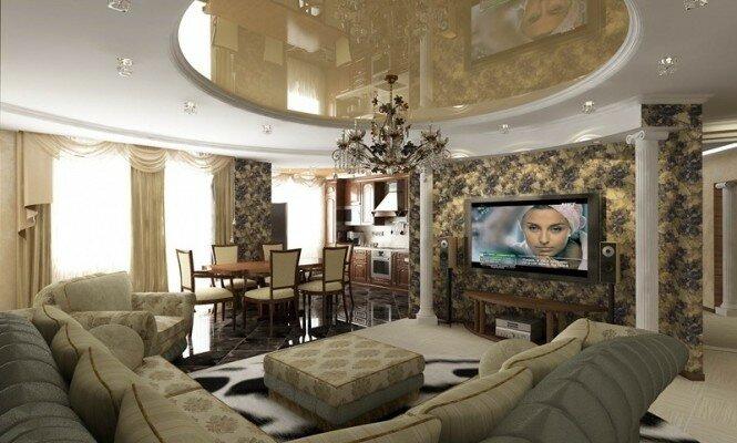 Красивый интерьер гостиной 15 кв м