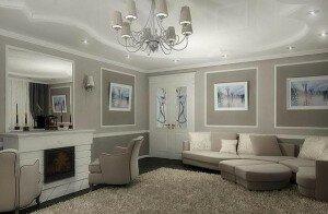 Дизайн гостиной 15 кв м в стиле классика