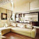Современный дизайн кухни гостиной, фото идеи