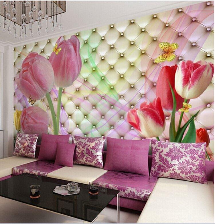 Тюльпан, цветы 3D настенные