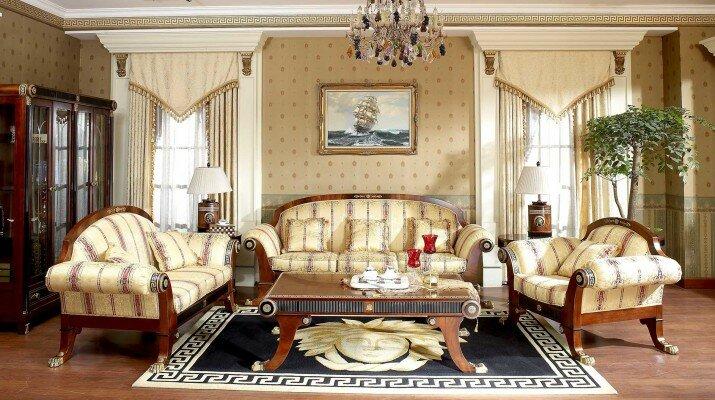 Эксклюзивный интерьер стиля ампир для создания красивой гостиной