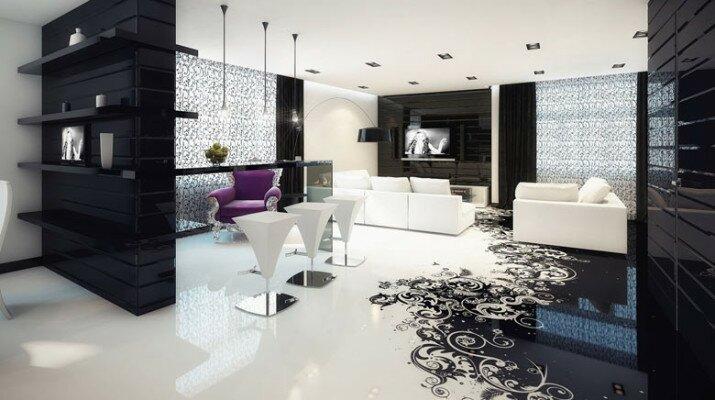 абстрактный 3D пол в гостиной