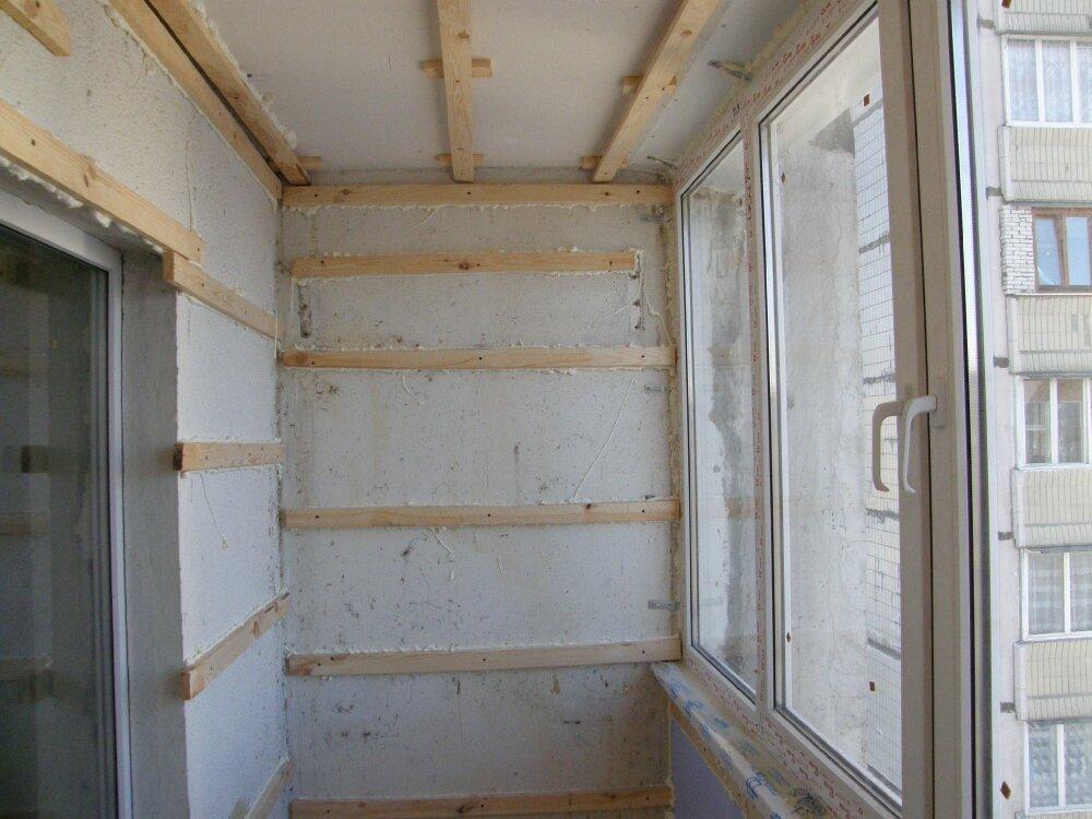 Как сделать своими руками внутреннюю отделку балкона