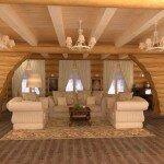 Как оформить интерьер деревянного дома внутри