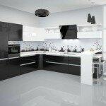 Черные и черно-белые кухни: особенности дизайна