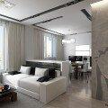 Дизайн кухни совмещенной с гостиной 30 кв м, фото